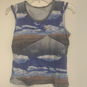 Vintage 90s Sky and Road Tank Top Size M/L